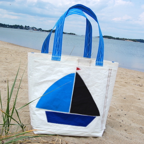 Blue/Black Boat Sail Bag - The Weekender