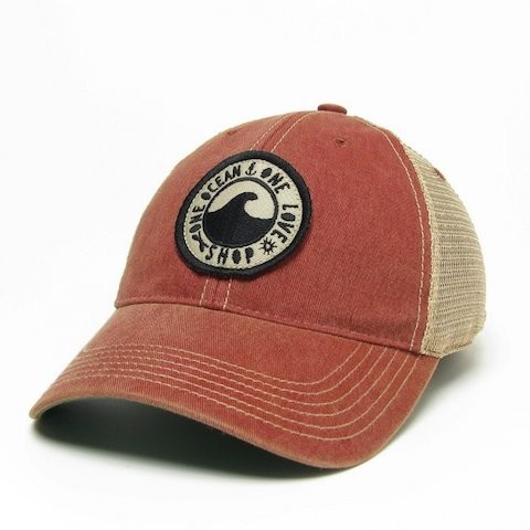 Red One Ocean Vintage Hat