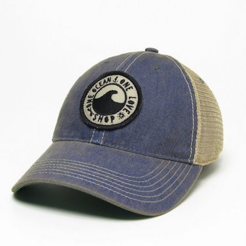 Blue One Ocean Vintage Hat