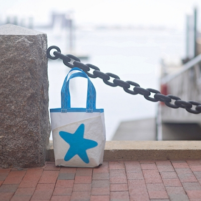 Light Blue Starfish Sail Bag - The Everyday Tote