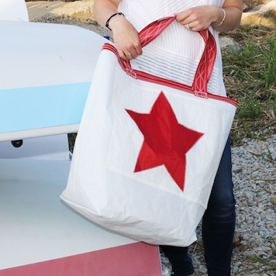 Red Star Sail Bag - Beach Getaway