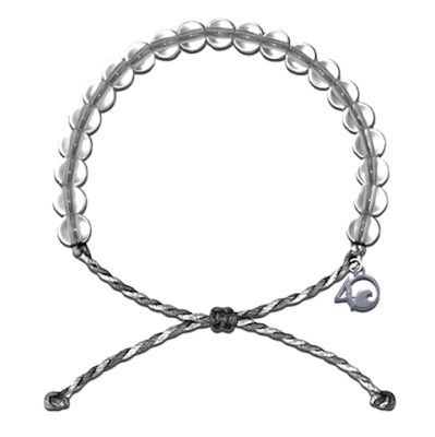 4Ocean Shark Bracelet (Gray and White)