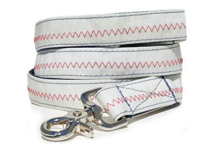 Brant Point -Blue Recycled Sail Dog Leash