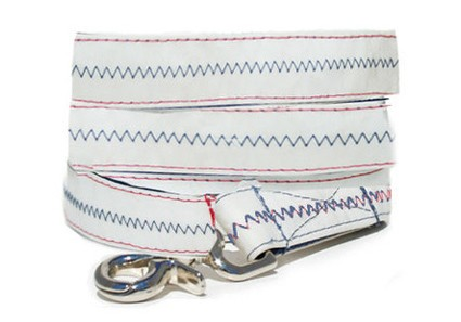 Harbour Town -Red Recycled Sail Dog Leash