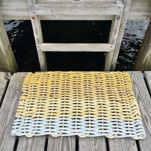 Recycled Lobster Rope Doormat - Hey Ombre Yellow