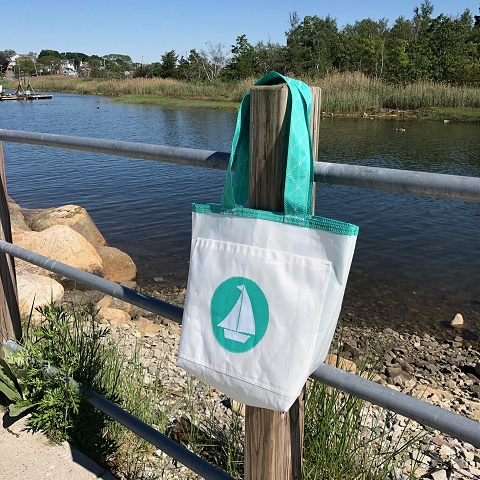 Teal Boat Everyday Tote Sail Bag