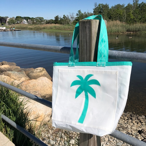 Teal Palm Tree Sail Bag  - Every Day Tote