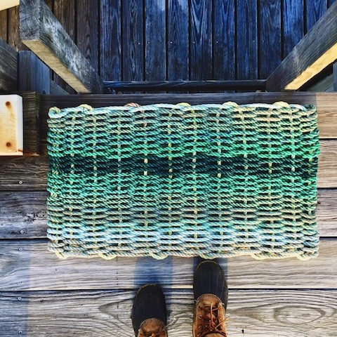 Recycled Lobster Rope Doormat - Isle Au Haut