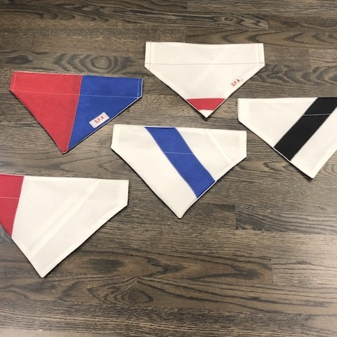 Recycled Sail Dog Bandanas - Large Dog