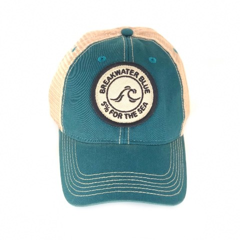 Teal Vintage 5% for the Sea Trucker Hat