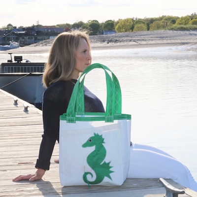 Seahorse Sail Bag - Blue or Green