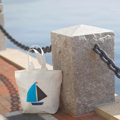Blue/Black Sail Boat Bag - with a zipper - The Weekender