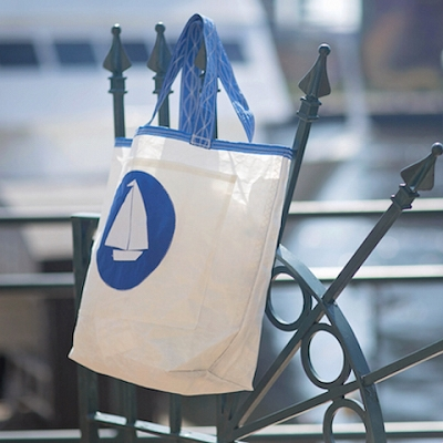 Blue Circle Boat Sail Bag  - Beach Getaway