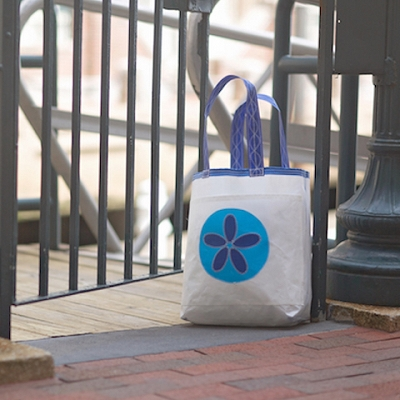 Blue Sand Dollar Sail Bag - The Weekender