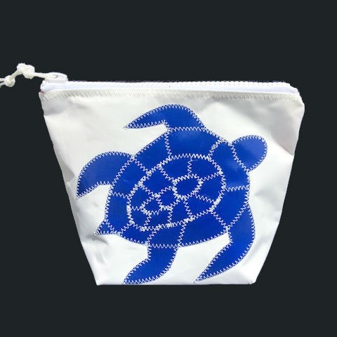 Blue Sea Turtle Zippered Sunblock Bag