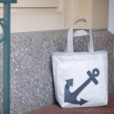 Gray Anchor Sail Bag with Zipper