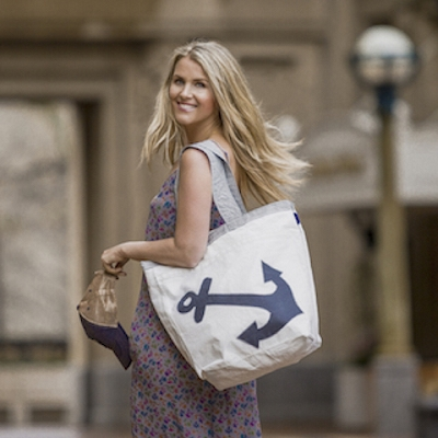 Grey Anchor Sail Bag -The Weekender