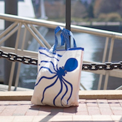 Blue Octopus Sail Bag  - Beach Getaway