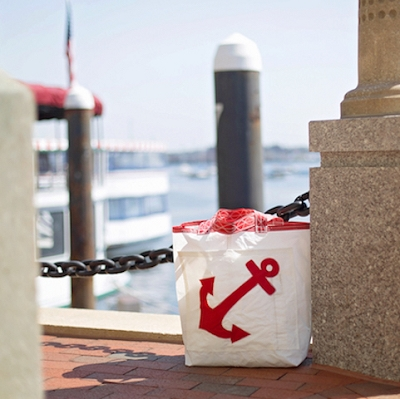 Red Anchor Sail Bag  - Beach Getaway