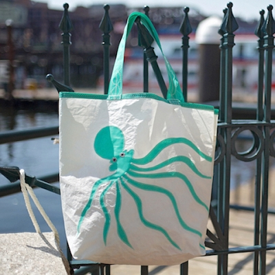 Teal Octopus Sail Bag - Beach Getaway