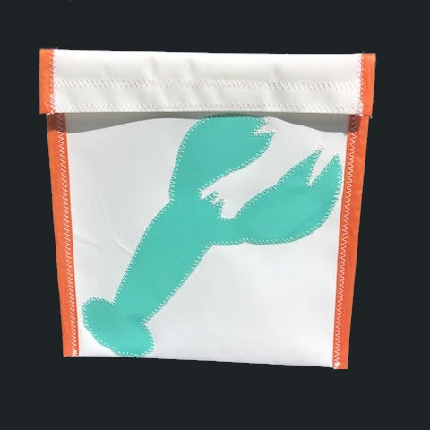 Teal Lobster  -Orange Trim Accessories Bag