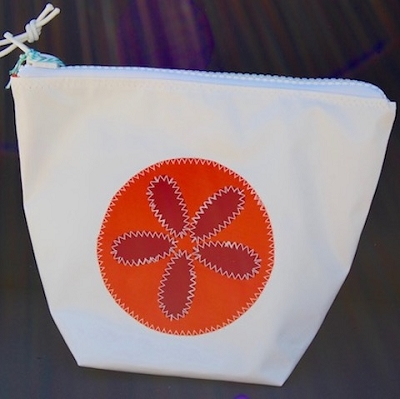 Orange Sand Dollar Sunblock Bag