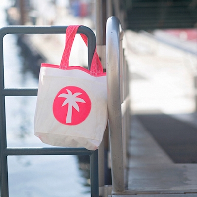 Pink Palm Tree Sail Bag - The Weekender