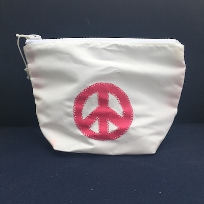 Pink Peace Sign Sunblock Bag