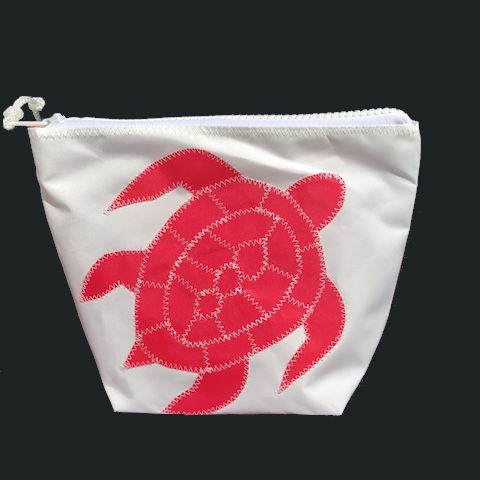 Pink Sea Turtle Zippered Sunblock Bag