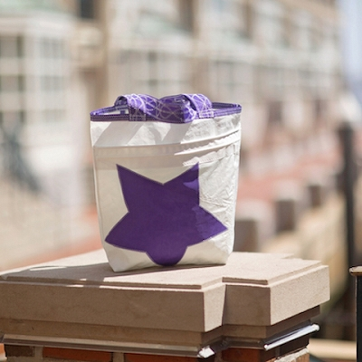 Purple Star Recycled Sail Bag - Our Everyday Tote