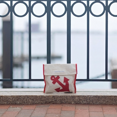Red Anchor - Red Trim Accessories Pouch