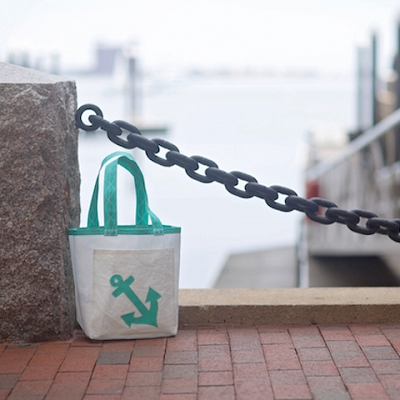 Teal Anchor Sail Bag - Everyday Tote