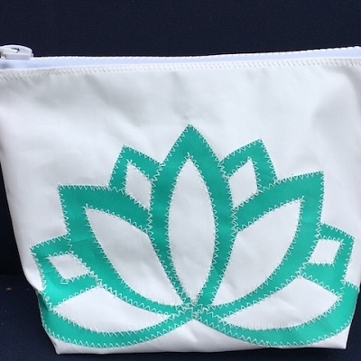 Teal Lotus Sunblock Bag