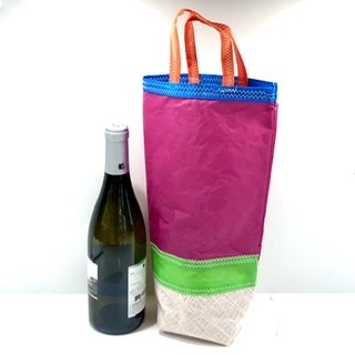 Purple, Green and White Wine Carrier