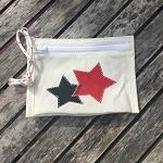 Red and Black Stars- Beach Wristlet
