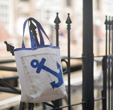 Blue Anchor Sail Bag - Everyday Tote