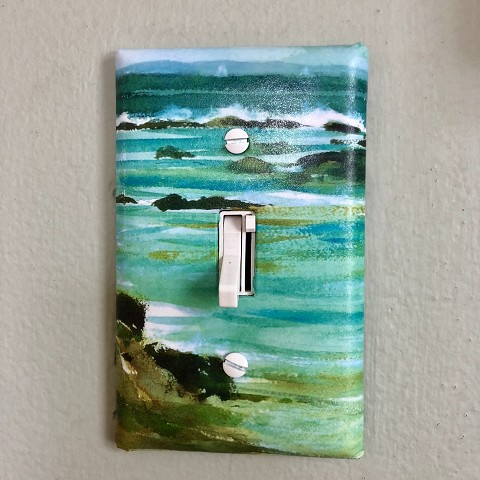 Single Scenic Light Switch Plate - made from recycled material