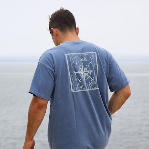 Compass Print - Men's T-Shirt