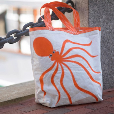 Orange Octopus Sail Bag - Beach Getaway