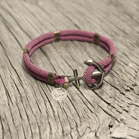 New Haven Anchor Bracelet -Heather Pink