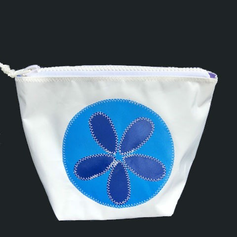 Blue Sand Dollar Zippered Sunblock Bag