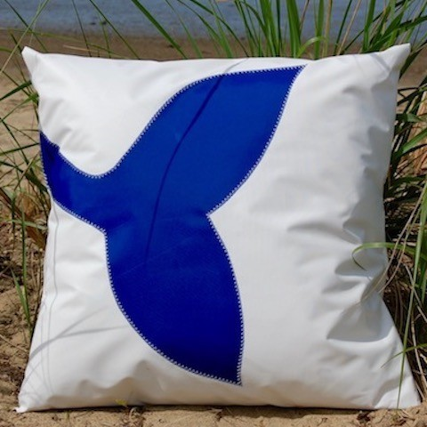 Blue Whale Tail Indoor - Outdoor Pillow