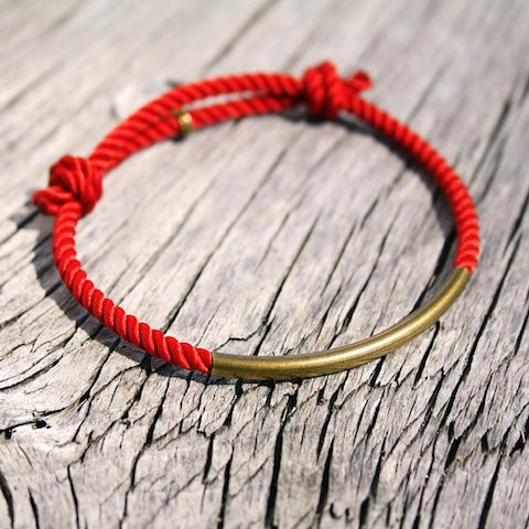 Red Double Knot Nautical Bracelet