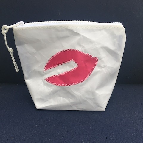 Pink Lobster Claw Recycled Sail Sunblock Bag