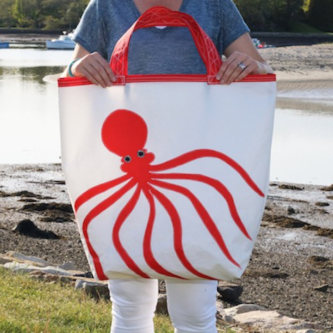 Red Octopus Sail Bag - Beach Getaway