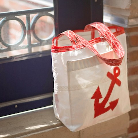Red Anchor Sail Bag -Everyday Tote