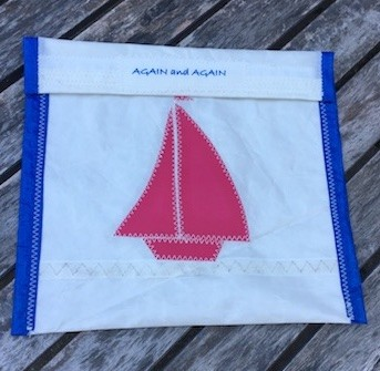 Pink Sail Boat -Blue Trim Accessories Pouch